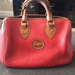 Dooney and Burke red handbag